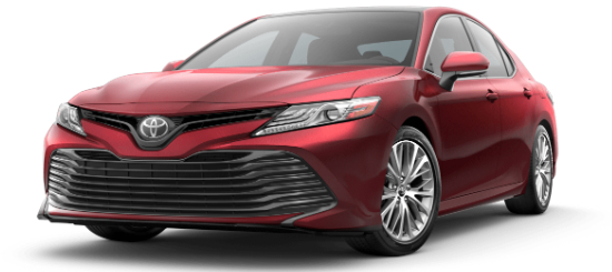 Ruby Flare Pearl 2020 Toyota Camry on White Background