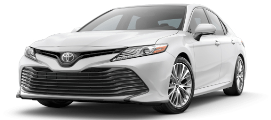 Super White 2020 Toyota Camry on White Background