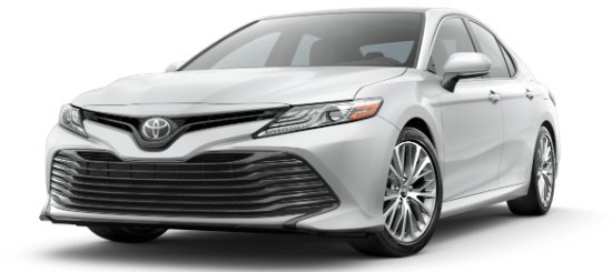 Wind Chill Pearl 2020 Toyota Camry on White Background