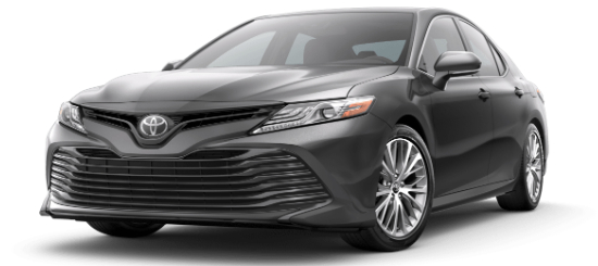 Predawn Gray Mica 2020 Toyota Camry on White Background