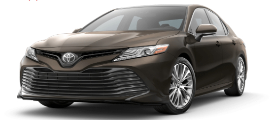 Brownstone 2020 Toyota Camry on White Background