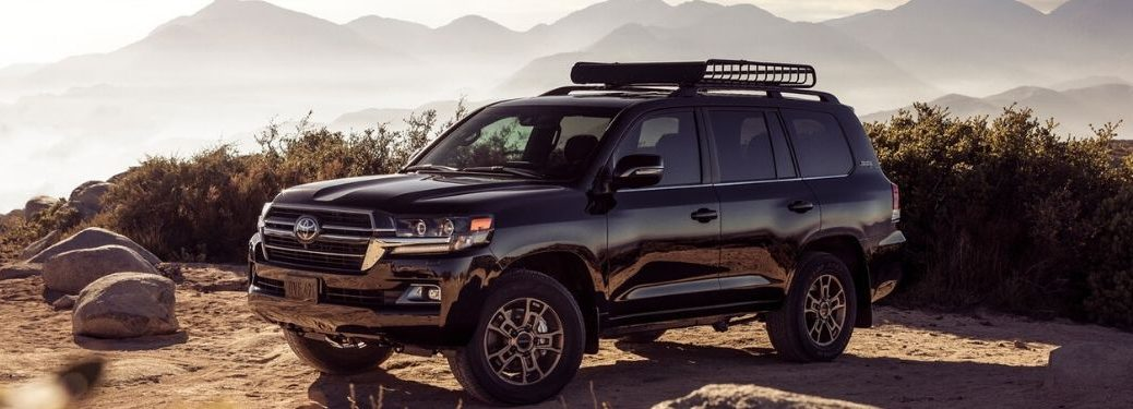 Black 2020 Toyota Land Cruiser on Mountain Trail