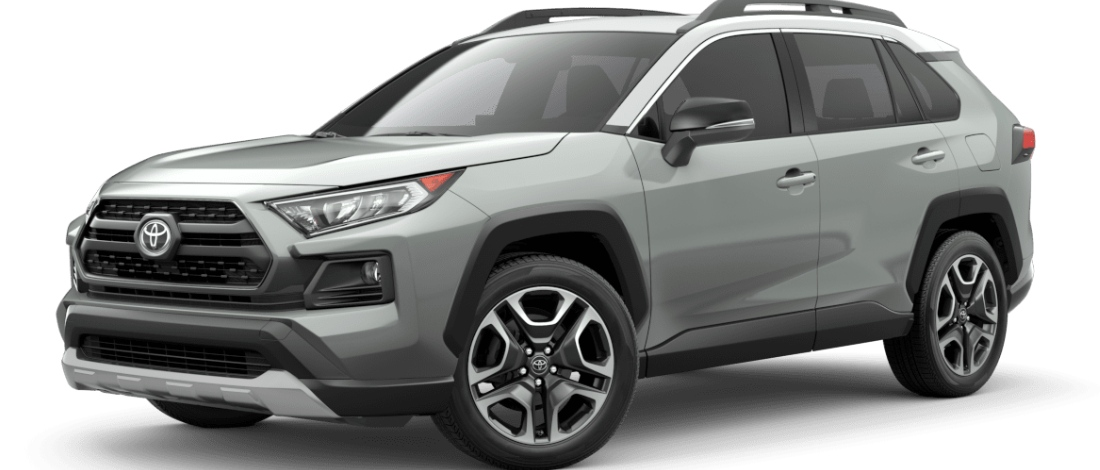 Lunar Rock with Ice Edge Roof 2020 Toyota RAV4 on White Background