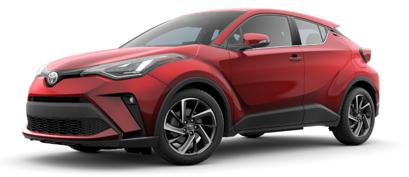 Supersonic Red 2020 Toyota C-HR on White Background