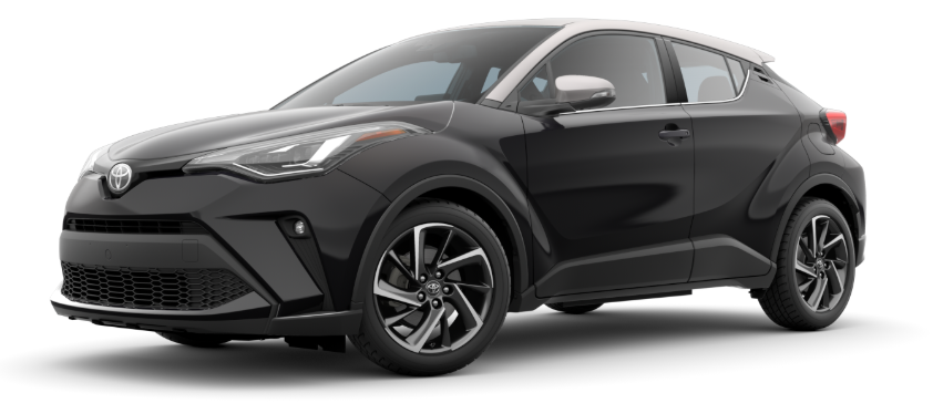 Black Sand Pearl R-Code Silver 2020 Toyota C-HR on White Background