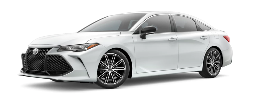 Windchill Pearl 2020 Toyota Avalon on White Background