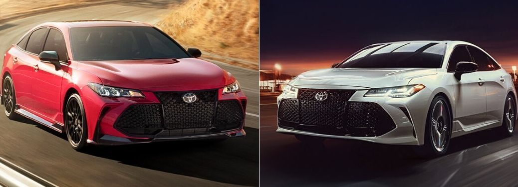 Red 2020 Toyota Avalon TRD Front Exterior vs White 2020 Toyota Avalon Front Exterior