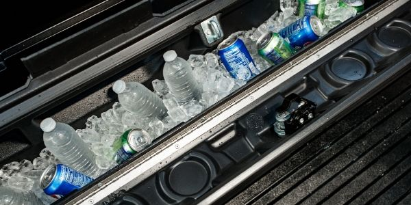 Lockable Cooler in 2021 Toyota Tacoma Trail Special Edition Bed