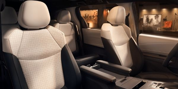 Front to Rear View of 2021 Toyota Sienna Interior