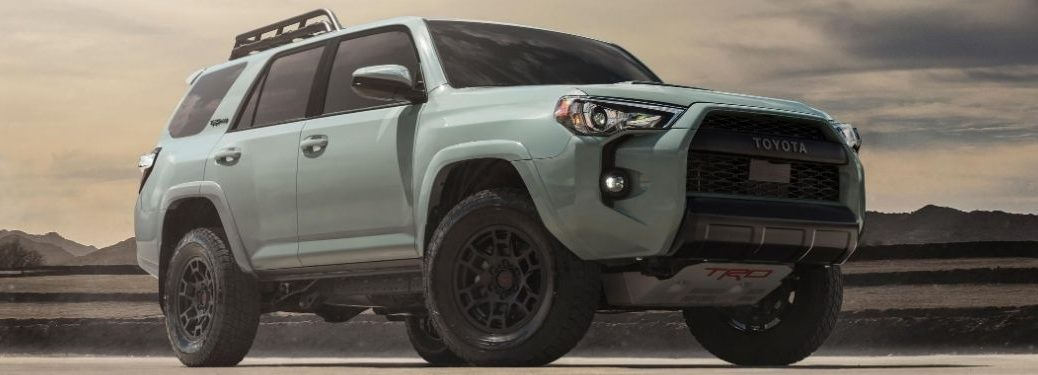 Gray 2021 Toyota 4Runner in a Desert