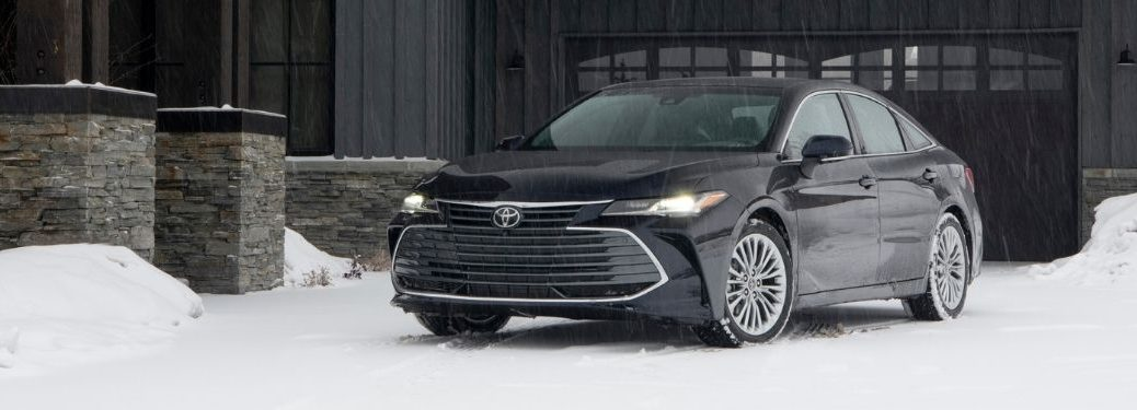 2021 Toyota Avalon Front Exterior in a Snowy Driveway