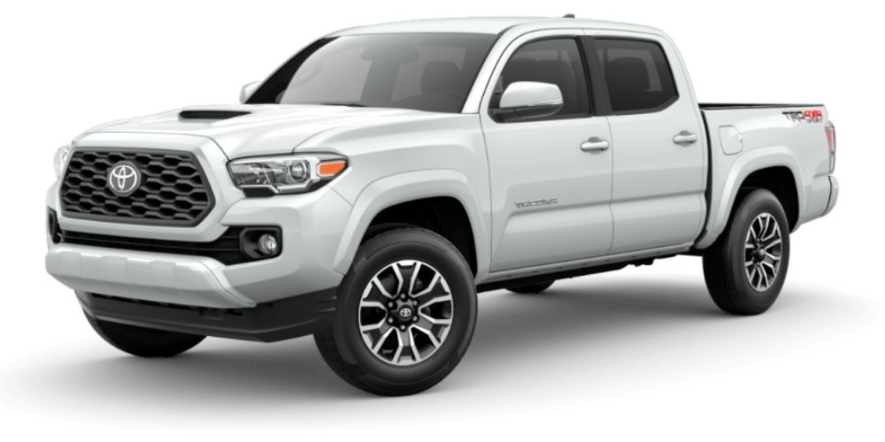 Wind Chill Pearl 2021 Toyota Tacoma on White Background