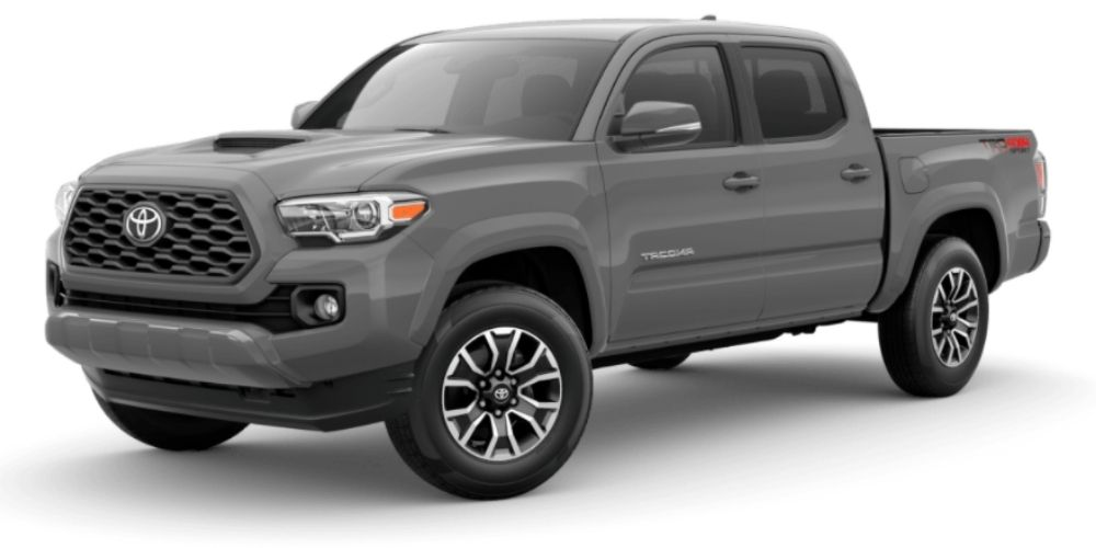 Cement 2021 Toyota Tacoma on White Background