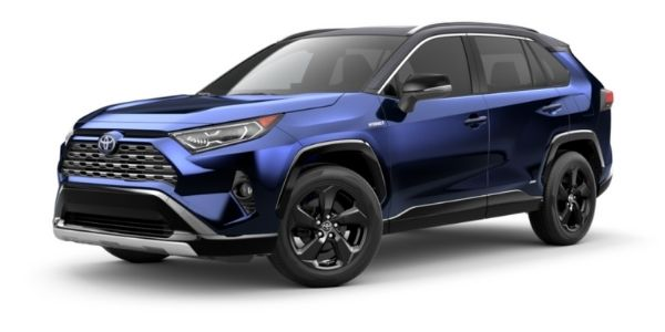 Blueprint 2021 Toyota RAV4 with Midnight Black Metallic Roof on White Background