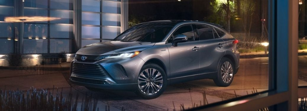 Gray 2021 Toyota Venza in a Parking Lot