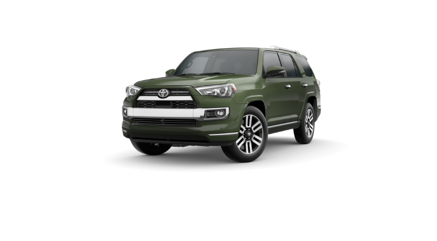 Army Green 2022 Toyota 4Runner on White Background