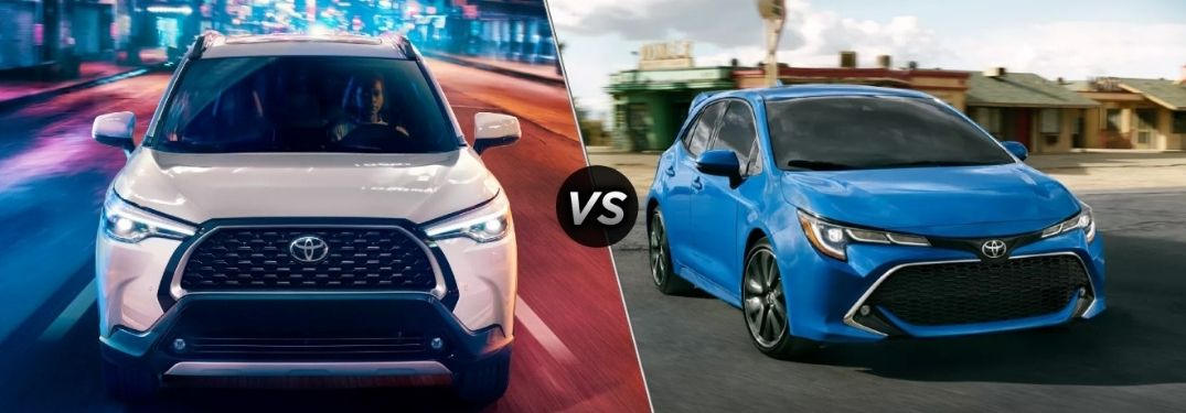 Compare the 2022 Toyota Corolla Cross and the 2022 Toyota Corolla Hatchback