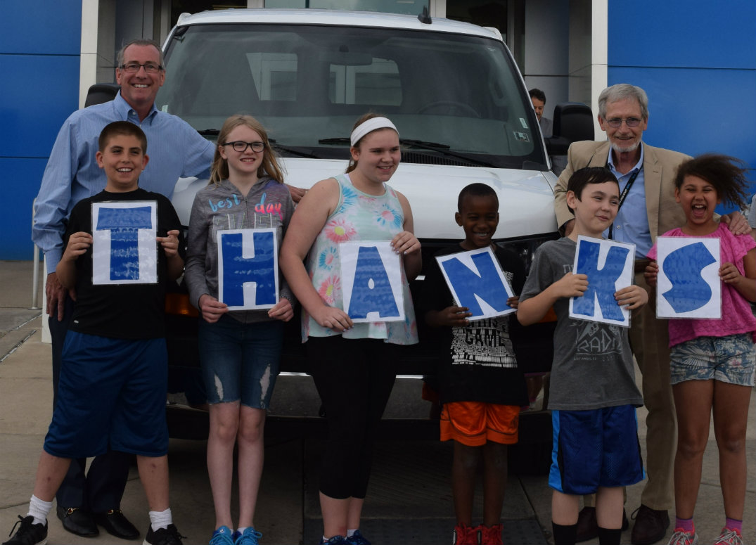 Baierl Van Donation - THANKS signs