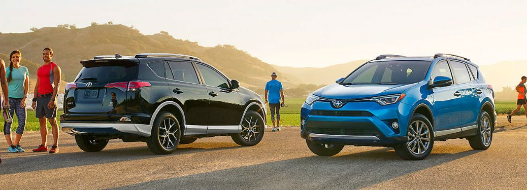 Two 2017 Toyota RAV4 models