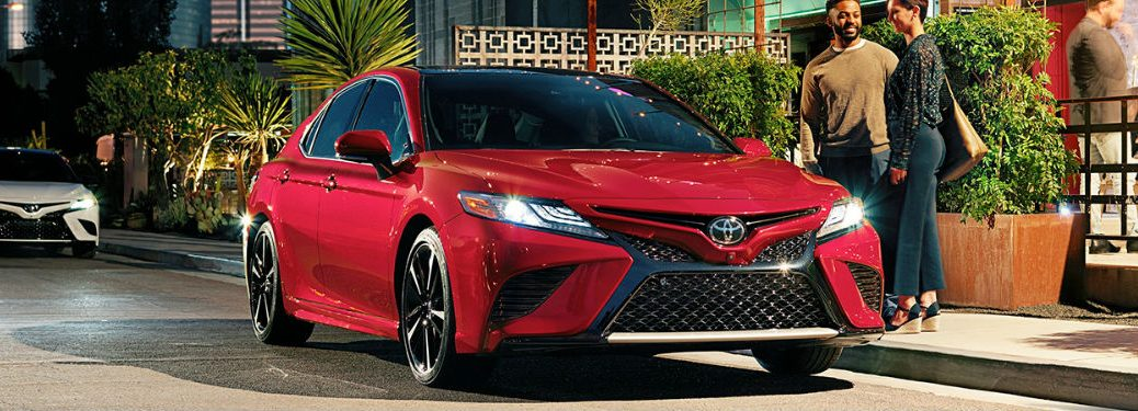 2019 Toyota Camry in red