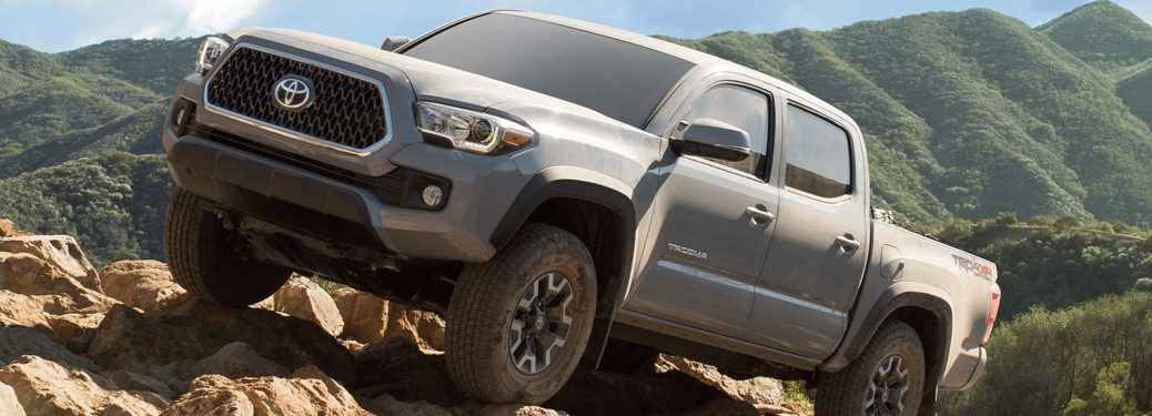 2019 Toyota Tacoma in gray on rocks