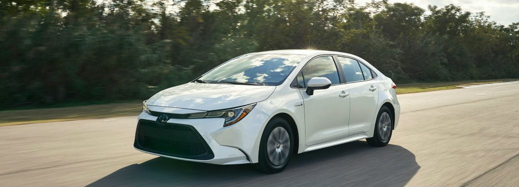 2020 Toyota Corolla in white