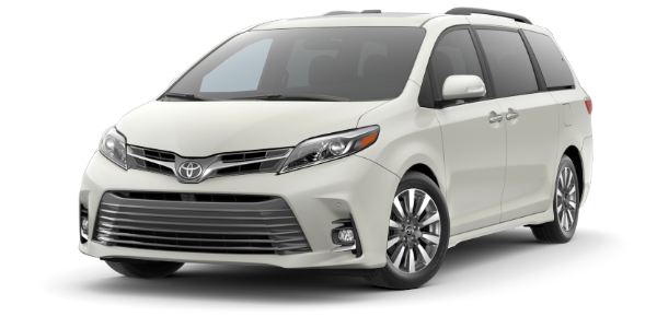 2020 Toyota Sienna Blizzard Pearl side front view