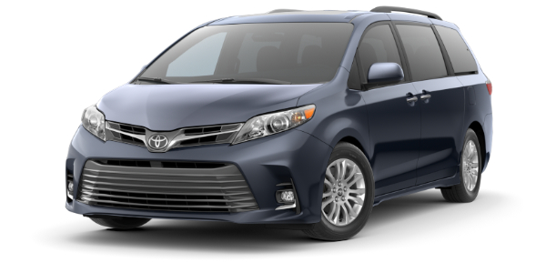 2020 Toyota Sienna Parisian Night Pearl side front view
