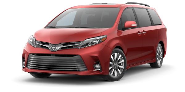 2020 Toyota Sienna Salsa Red Pearl side front view