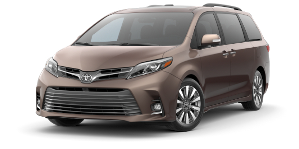 2020 Toyota Sienna Toasted Walnut Pearl side front view