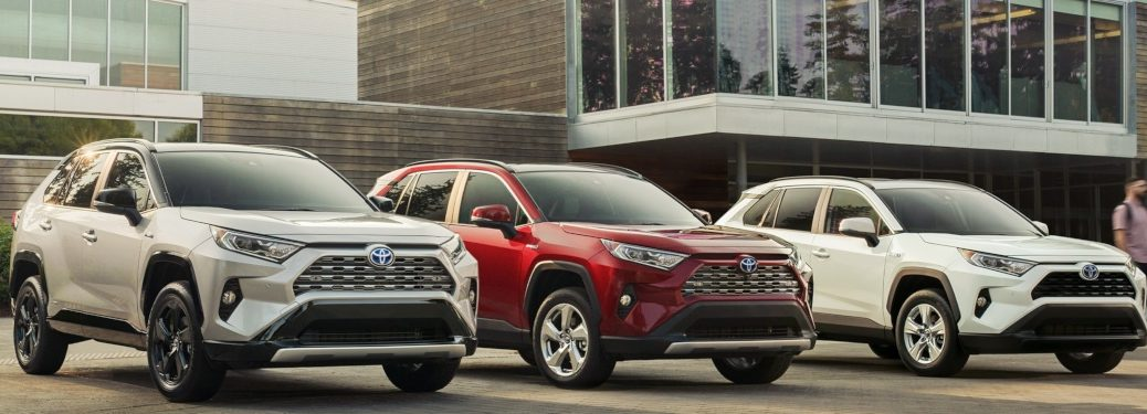 2019 Toyota RAV4 multiple colors front view