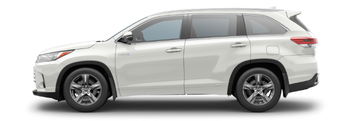 2019 Toyota Highlander Blizzard Pearl side side view