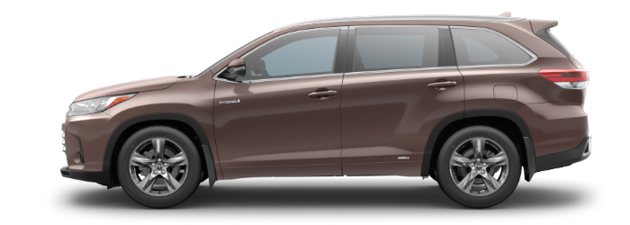 2019 Toyota Highlander Toasted Walnut Pearl side side view