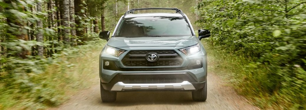 2019 Toyota RAV4 Adventure green front view on dirt