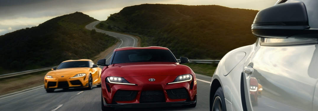What are the exterior and interior color options for the 2020 GR Supra?