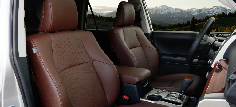 2020 Toyota 4Runner brown leather front seats