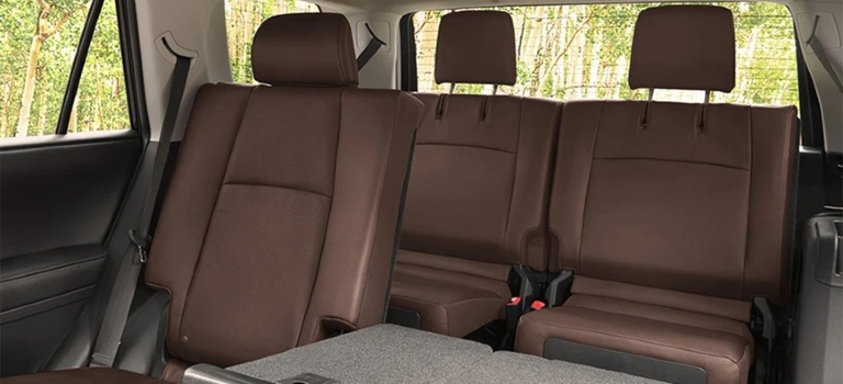 2020 Toyota 4Runner brown leather third row seats