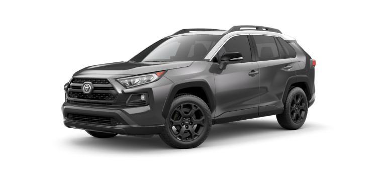 2020 Toyota RAV4 TRD Off-Road gray and white two-tone side view