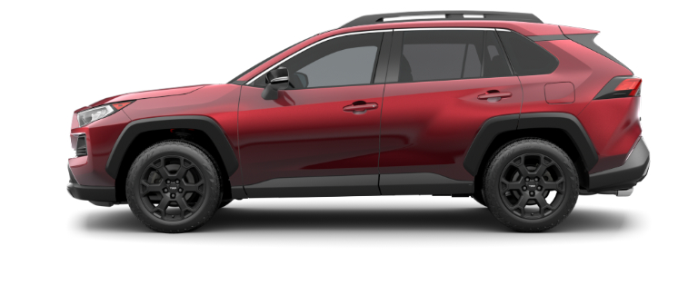 2020 Toyota RAV4 Ruby Flare Red side view