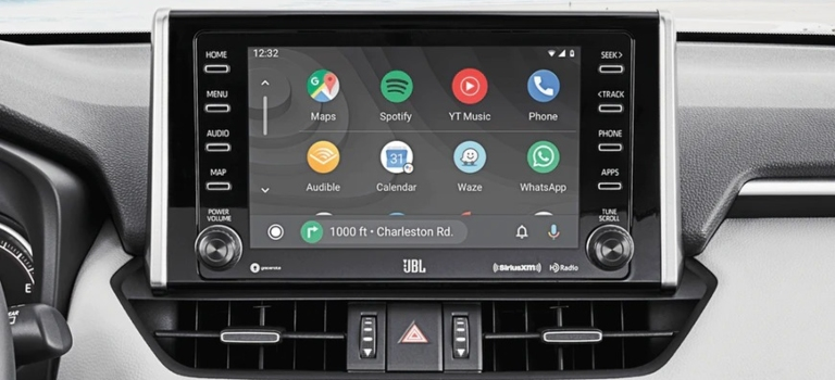 2020 Toyota RAV4 with Android Auto infotainment screen