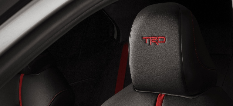 2020 Toyota Camry TRD embroidered headrests