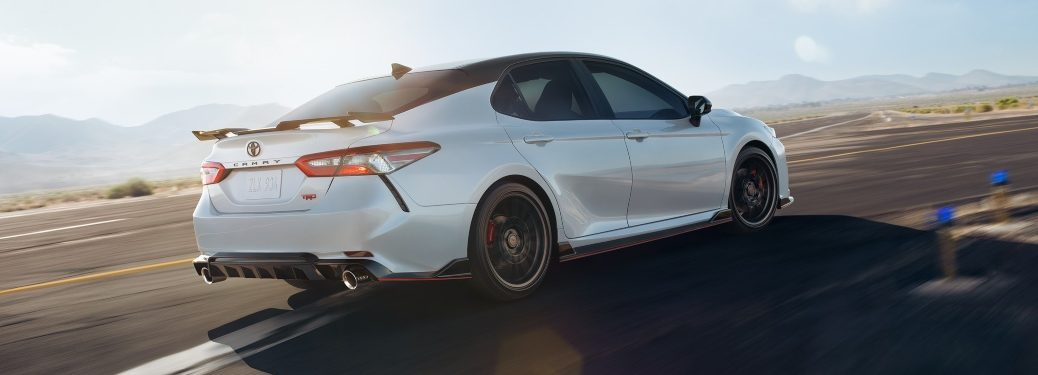 2020 Toyota Camry white back side view