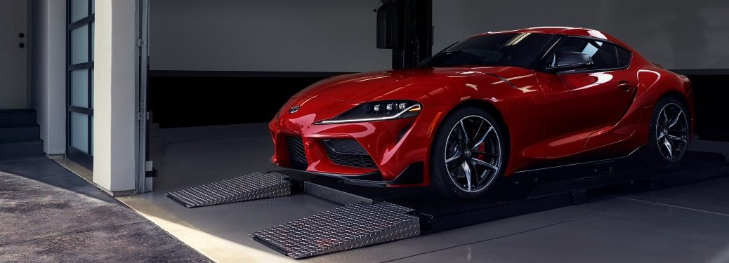 2020 Toyota GR Supra red side front view