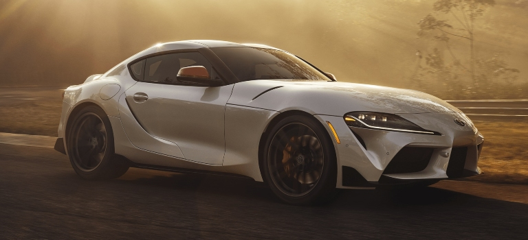 2020 Toyota GR Supra white side view