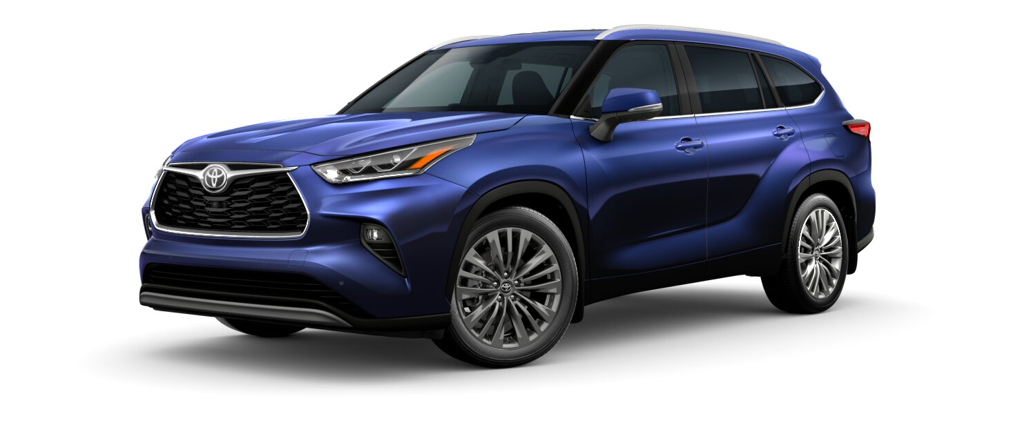 2020 Toyota Highlander Blueprint side view