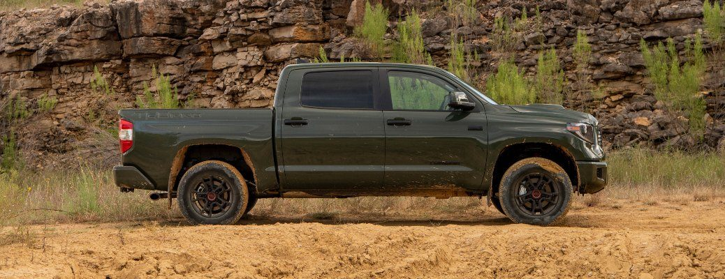 2020 Toyota Tundra green side view