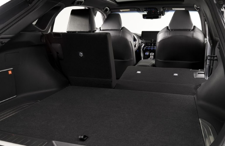 Interior view of the cargo area inside a 2021 Toyota Venza
