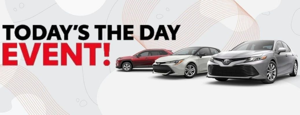 Toyota Today's the Day Event banner