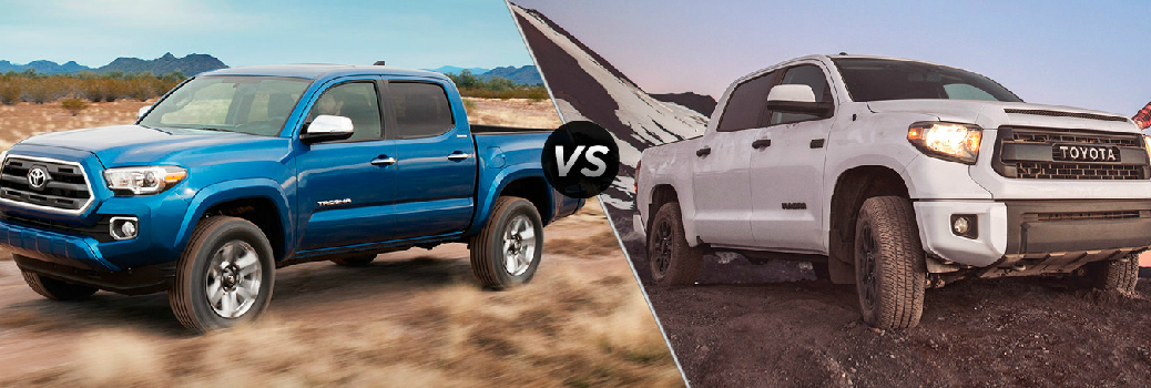 Comparison of the 2016 Toyota Tundra and 2016 Toyota Tacoma