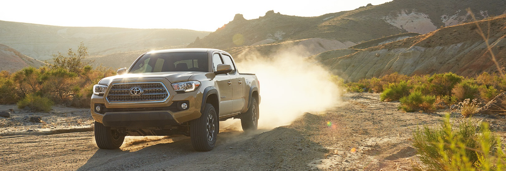 2017 Toyota Tacoma Driving on a Trail